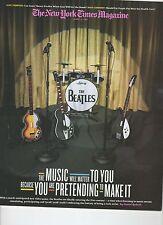 Beatles New York Times Magazine August 16, 2009