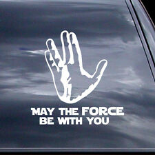 May The Force Be With You - Star Wars & Star Trek Mash Up - Car Vinyl Sticker