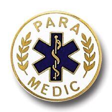 Star of Life Graduation 974 New Paramedic Lapel Collar Pin Medical Emblem Blue