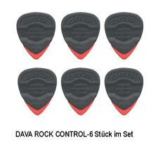 6 x Dava Plec`s / Picks / Gitarrenplättchen Rock Control -Plectren