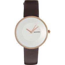 Ladies LAMBRETTA 'Cielo' Dark Brown Leather Watch rrp £77 - New