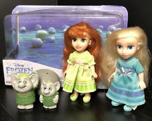 Disney Frozen Petite Surprise Trolls Set Princess Elsa Anna Dolls