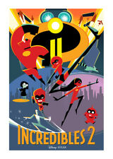 """Incredibles 2 - Movie Poster - (24""""x36"""")  Advance One Sheet - Free S/H"""