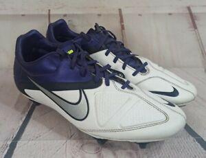 Nike CTR360 Maestri II SG UK 10 Purple/White/Silver Retro Football Boots
