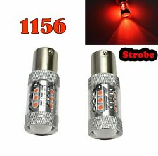 Strobe Rear Signal 1156 BA15S 7506 3497 1141 P21W 80W Red LED Bulb M1 GM MA