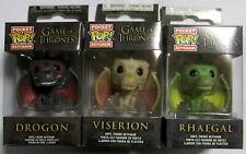 GAME OF THRONES Drogon, Viserion + Rhaegal - Schlüsselanhänger - Pocket Pop!
