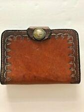 b53e7ada3576d6 Vintage Wallet Folio Retro Colors Buffalo Leather!, Five Cents Buffalo  Button