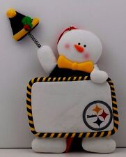 Pittsburgh Steelers Personalized Claydough Snowman Ornament Officially Licensed