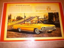 Vintage Chevy Impala Advertisement Poster Man Cave Gift Art Decor