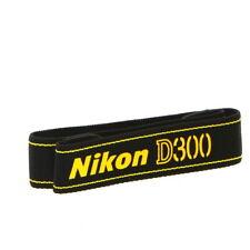 """Nikon Neck Strap 1.5"""" Black Yellow Stitch D300 (AN-D300) - LN"""