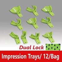 Dental Excellent DUALOCK Impression Trays Superior Retention CHOOSE SIZE Bag/12)