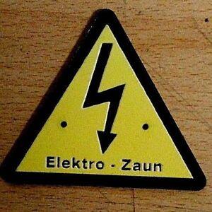 Warnschild  Vorsicht Elektro - Zaun Weidezaun Hochspannung
