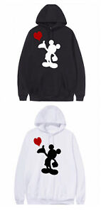 Love Mickey Mouse Hoody Plus Size 16 18 20 22 24 26 28 30 32 34 Disney Jumper M3
