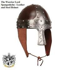 The Warrior Lords Spangenhelm. Leather & Steel Helmet. Re-enactment Stage & LARP