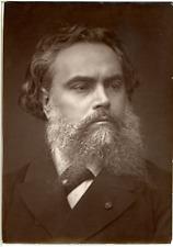 France, Alexandre Cabanel, artiste peintre  Vintage print. Alexandre Cabanel, né