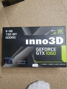 Nvidia Geforce INNO3D GTX 1060 6GB Gaming Graphics card. Used. UK Seller.