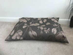 Floor Cushion Filled Brown Floral Large 3 cubic ft Size upholstery grade New