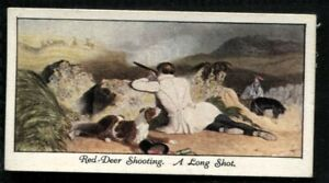 Tobacco Card, Mitchell, OLD SPORTING PRINTS, 1930, Red Deer Shooting, #20