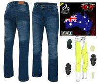 AUSTRALIAN Bikers Gear Ladies Stone wash Motorcycle Jeans with DuPont™ Kevlar®