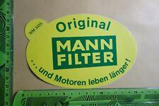 Alter Aufkleber Auto Motor MANN FILTER Luftfilter