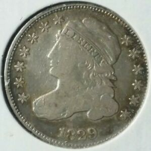 1829 10c Capped Bust Silver Dime