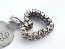 Anhänger Kettenanhänger Herz Liebe Diamant - 585 Gold Weißgold - #40**