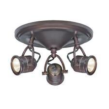 Hampton Bay 3-Light Ceiling Mounted Track Lighting Heads Vintage Style Fixture