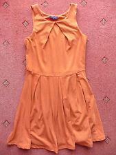 Women's Lila Orange Sleeveless Skater Dress, Size 8