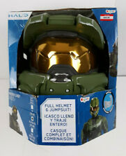 HALO Master Chief Costume Full Helmet with Muscle Jumpsuit Adult Sz XL 42-46