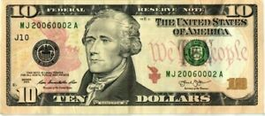 2013 $10.00 Federal Reserve Trinary Error Note with Tri flipped bookends.