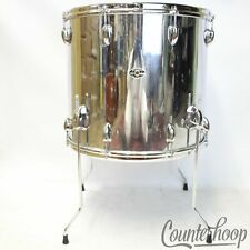 "Slingerland 18x16""3Ply Floor Tom Drum Chrome Over Wood COW Sound King Vintage70s"