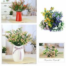 High Quality Wedding Decor  Silk Lavender Fake Bouquet Artificial Flowers