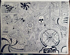 Abstract Psychedelic Micron Marker Drawing Signed By Artist 9x12
