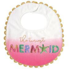 Mud Pie E0 Baby Girl Mermaid Ombre Feeding Bib 1552367 Choose
