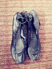 c811f3157 Womens New w/Box JOIE Black Satin Bandele Wrap Ballet Flats~Size 39.5