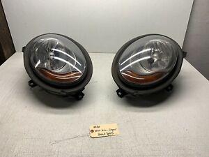 2014 - 2019 Mini Cooper F55 F56 Left & Right Halogen Headlight Headlamp Set Pair