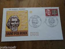 FRANCE 1968, FDC premier jour SAINT-POL-ROUX, Timbre 1552, VF FDC CELEBRITY