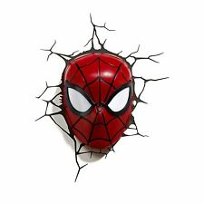 MARVEL SPIDERMAN 3D LED WALL LIGHT LAMP MASK + STICKERS