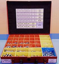 Sechskantschrauben Sortimentskoffer DIN 933 verzinkt M5-M12 + Muttern & Scheiben