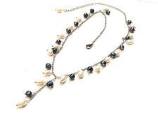 Bijou collier perles d'eau douce alliage argenté necklace