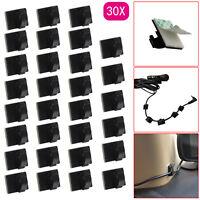 30PCS Mini Self Adhesive Car Wire Clips Rectangle Tie Sticker Cable Cord Holder