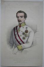 Franz Josef I. (1830-1916) Kaiser von Österreich Orig. Farblithografie um 1880