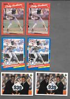 1990 DONRUSS Rickey Henderson Error #304 & 2  Rickey Henderson Error A'S Cards