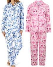 Slenderella Cotton Rich Pinstripe Seersucker Long//Cropped//Button Pyjamas PJs