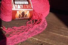 Circulo Rendado Trico Yarn 276 Hot Pink Crochet Lace Ruffle Scarf Yarn 22m