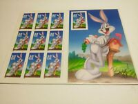 BUGS BUNNY LOONEY TUNES FULL PANE 10 32¢ STAMPS 1997 MNH IMPERF IMPERFORATE 3138