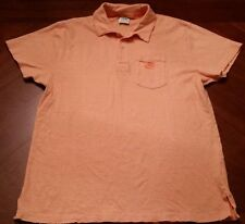 LIGHTLY WORN NIKE SPORTSWEAR RETRO ORANGE POLO SHIRT SIZE L