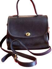 Coach Legacy Black Leather Crossbody Satchel Messenger Bag Purse Vtg court