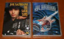 JOE SATRIANI 2x DVD Lot LIVE IN SAN FRANCISCO 2001 & THE SATCH TAPES New Sealed