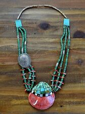 Vintage Santo Domingo Spiny Oyster Shell Turquoise Necklace